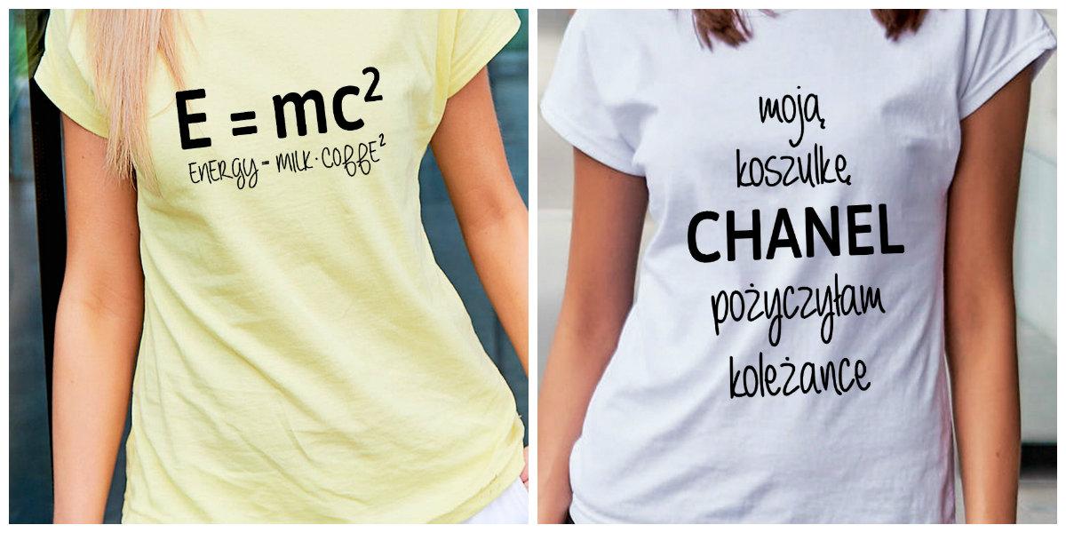 damskie koszulki z napisami