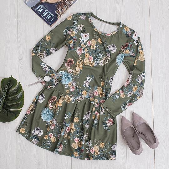 Sukienki w kwiaty na cztery pory roku