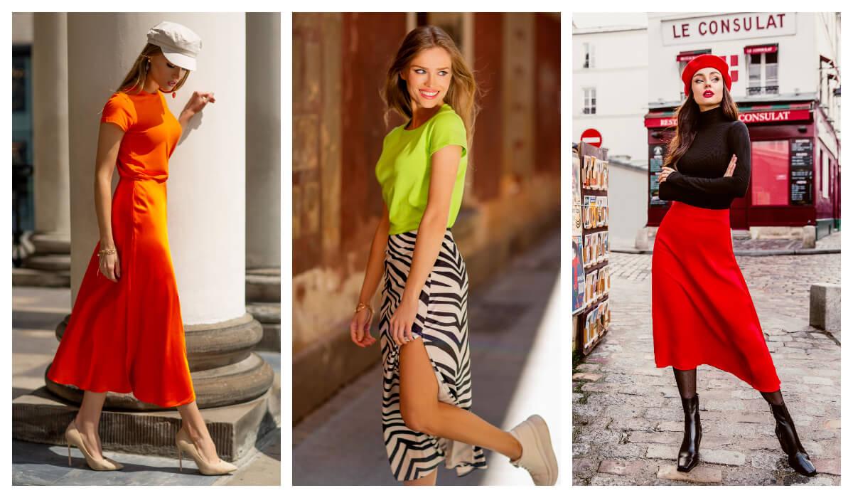 modne spódnice midi i maxi w stylizacji na wiosnę