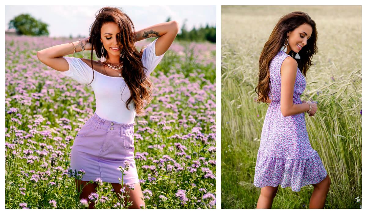 ubrania w pastelowych kolorach na wiosnę